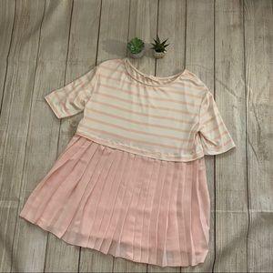 Les Amis peach baby doll blouse